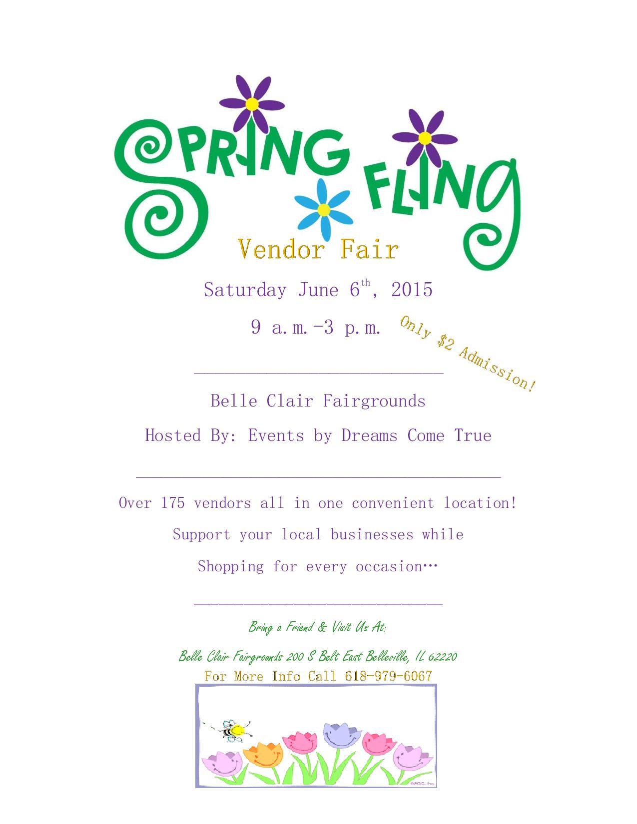 Spring Vendor Fair Flyer Carnavalsmusic